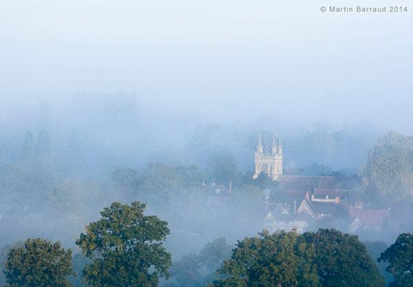 Tower of Penshurst church on the skyline seen through trees | Martin Barraud