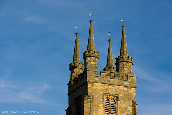 15th century Penshurst church tower with its 8 bells