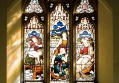 Stained glass artist Laurence Lee's Becket Window at Penshurst