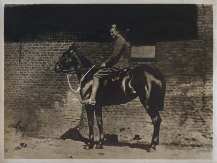 Major Hardinge in Armentieres in 1914. This was hand printed and stuck into the original book. We have done exactly the same with the 2016 version