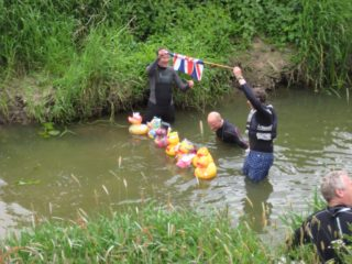 Duck Race 2016; the Best Dressed School Duck Race gets going!