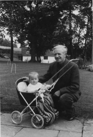 Louise with her father at Doubleton 1957