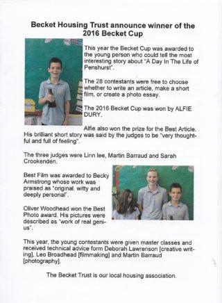 Becket Cup 2016 article Penshurst News